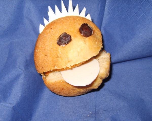 Muffin als Gesicht